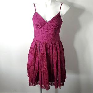 Betsey Johnson Fuchsia Lacy Dress